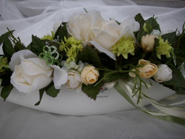 Blumengesteck Tischdeko Autoschmuck Lilien Flieder Weiss Hochzeit ...
