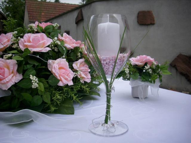 Tischgesteck dekoration 11 tlg kunstblume rosa hochzeit ebay for Edle dekoration