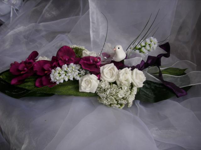 Tischgesteck tischdeko rose taube weiss orchidee fuchsia hochzeit ebay - Tischdeko orchideen hochzeit ...