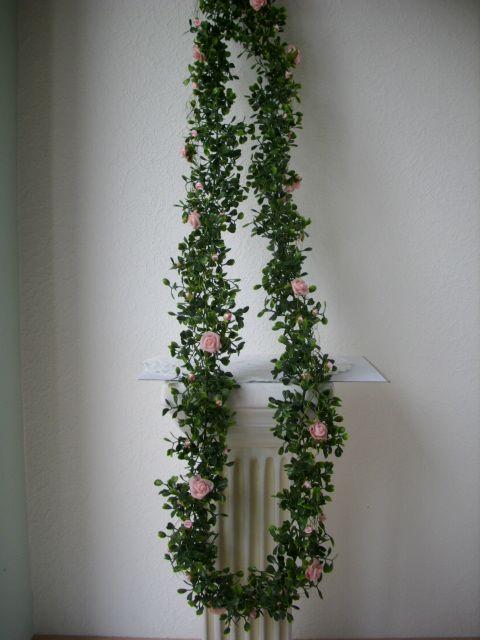 ... Buchs 200cm künstlich Tischdeko Autoschmuck grün rosa Hochzeit TAUFE