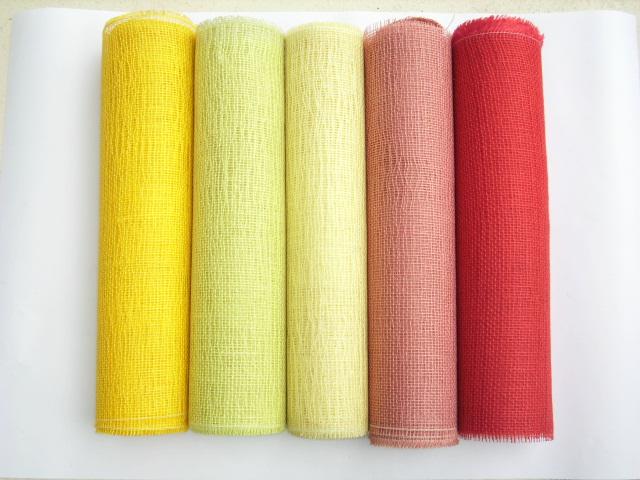 jutestoff meterware 50cm breit tischband dekoband gelb rot hellgr n tischl ufer ebay. Black Bedroom Furniture Sets. Home Design Ideas
