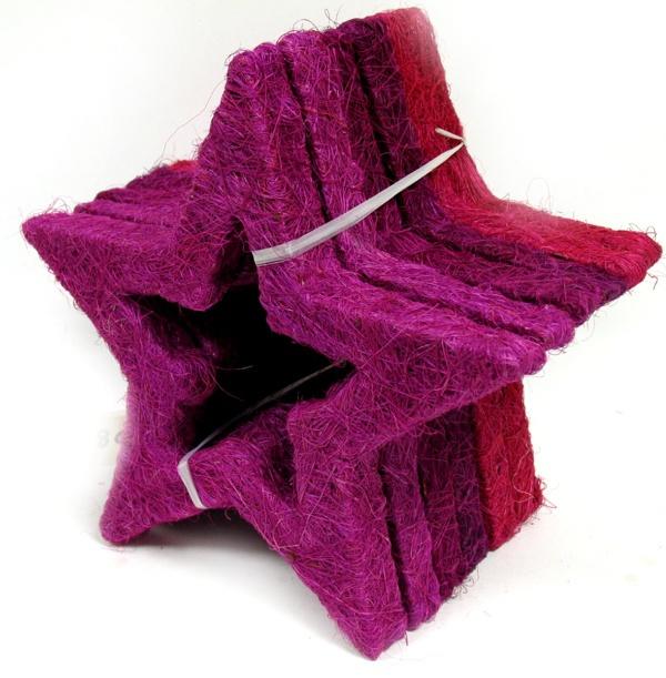 2x stern offen 25cm sisal lila pink fensterdeko tischdeko weihnachtsdeko ebay - Weihnachtsdeko lila ...